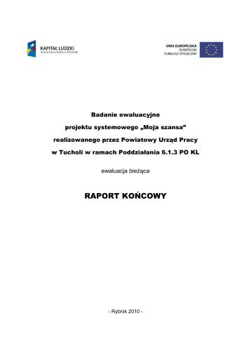Raport z badania PUP Tuchola - mojregion.eu