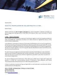 Piano delle prove Hold & Release - Monte Titoli