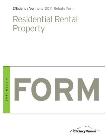Residential Rental Property - Efficiency Vermont