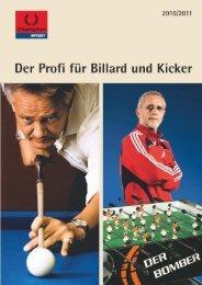 Billard – Zeitabrechnung - Pool School Germany