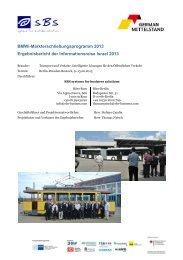 BMWi-Markterschließungsprogramm 2013 Ergebnisbericht ... - iXPOS