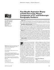 Fine-Needle Aspiration Biopsy of Solid Pancreatic Masses ...