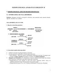 FIZIOPATOLOGIA APARATULUI DIGESTIV II - OvidiusMD