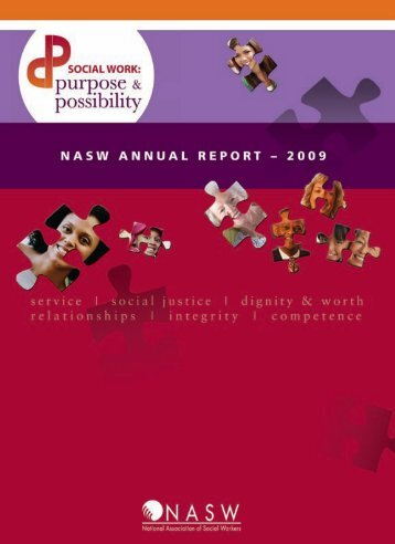 NASW Annual Report - 2009 - National Association of Social Workers