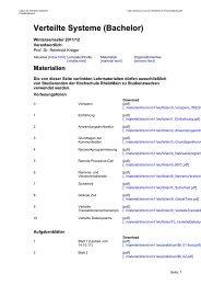 Verteilte Systeme (Bachelor) - Labor für Verteilte Systeme ...