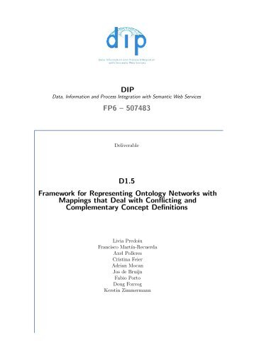 A framework for representing ontology networks - DIP - Semantic Web