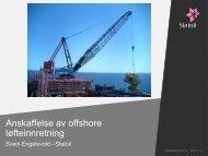 Anskaffelse av offshore løfteinnretning