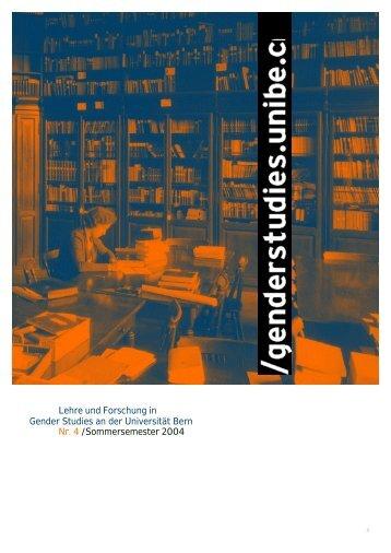 Nr. 4, FS 2004, Frauen an der Uni Bern (pdf, 1.0 MB)