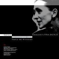 Omaggio a Pina BauSch - Comune di Siena