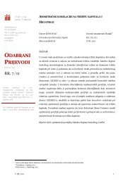 Asimetrične korelacije na tržištu kapitala u Hrvatskoj
