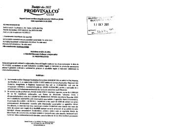 vezi aici deciziile AGOA ale Prodvinalco (.pdf) - Ziua de Cluj