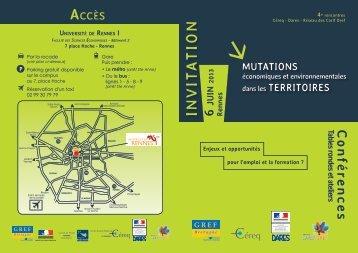 Programme des 4es rencontres Céreq, Dares, réseau Carif-Oref du ...