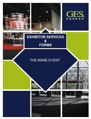 2010 Mane Event Exhibitor Order Forms - GES