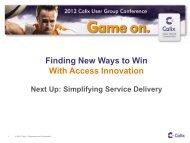 Unified Access Management - Calix