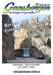Reisekatalog - Gansberger Reisen