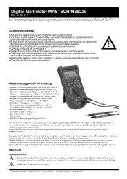 Digital-Multimeter MASTECH MS8229 - Pollin Electronic GmbH