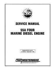 service manual 55a four marine diesel engine - Westerbeke