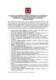 acta de la xxii asamblea general 2012 - olacefs