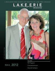 Fall 2012 Alumni Magazine - Lake Erie College