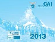 AGENDINA 2013 > scarica - CAI - sezione di Sesto San Giovanni