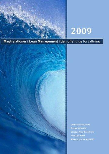 Magtrelationer i Lean Management i den offentlige forvaltning
