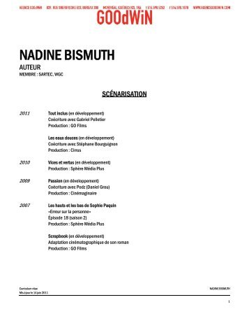 NADINE BISMUTH - Agence Goodwin