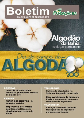 Boletim - Revista Algodão 2010 - Fundação Bahia