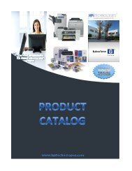 Product Catalog 2010 - HPI Technologies