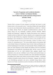 Narrative Programme und Geschlechteridentität in der 3. Sinfonie ...