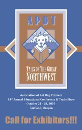 Exhibitor Brochure - Association of Pet Dog Trainers