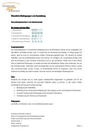 Räumliche Bedingungen und Ausstattung Räumliche Bedingungen ...
