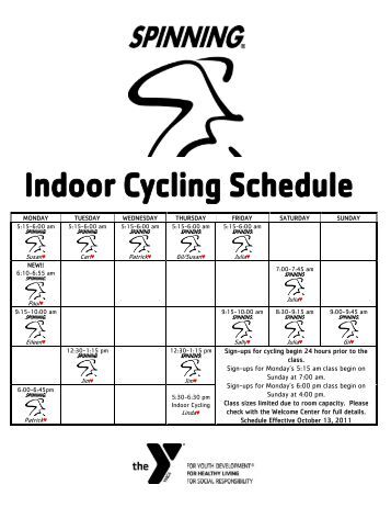 Sign-ups for cycling begin 24 hours prior to the class. Sign-ups for ...