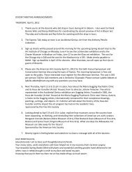 DOCENT MEETING ANNOUNCEMENTS THURSDAY, April 5, 2012 ...