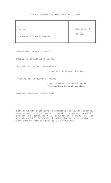 en el tribunal supremo de puerto rico - Rama Judicial de Puerto Rico