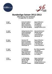Bundesliga Saison 2012/2013 - Studentenwerk Bonn