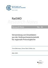 Research Notes - RatSWD