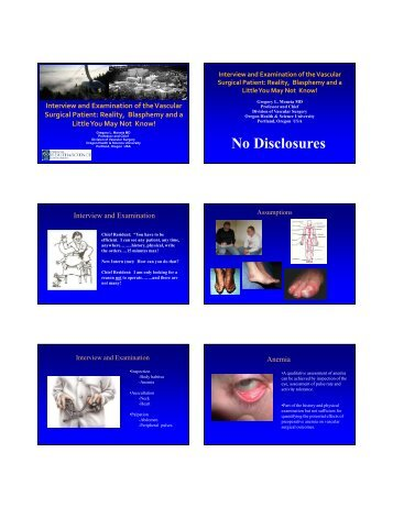 Interview and Examination - VascularWeb
