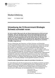 Medienmitteilung Umsetzung der E-Government-Strategie Schweiz ...