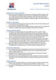 Market & Trade Insights Quarterly Update: (MARKET) - VisitBritain