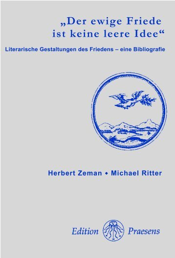 """Der ewige Friede ist keine leere Idee"" - Praesens Verlag"
