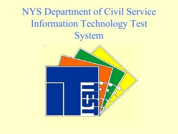 NYS Department of Civil Service Information Technology Test ... - IPAC