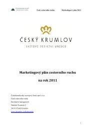 Marketingový plán cestovního ruchu na rok 2011 - Český Krumlov