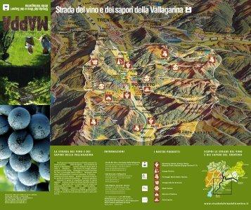 Cartina - Strade del Vino e dei Sapori del Trentino