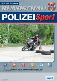 RUNDSCHAU POLIZEI SPORT 05–06/2011 - PSV Wien