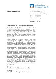 Raiffeisenbank Bad Abbach-Saal eG Presse-Information