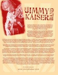 Jimmy Kaiser Info Sheet