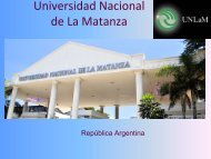 Universidad Nacional de La Matanza - Observatorio de Recursos ...