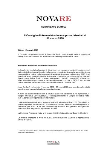 Scarica in formato pdf - Gruppo Nova Re