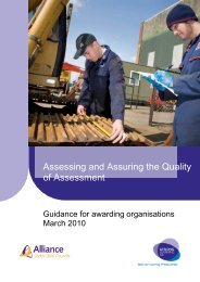 Assessing and Assuring the Quality of Assessment - NCFE