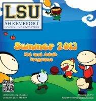 Summer 2013 Catalog - Continuing Education